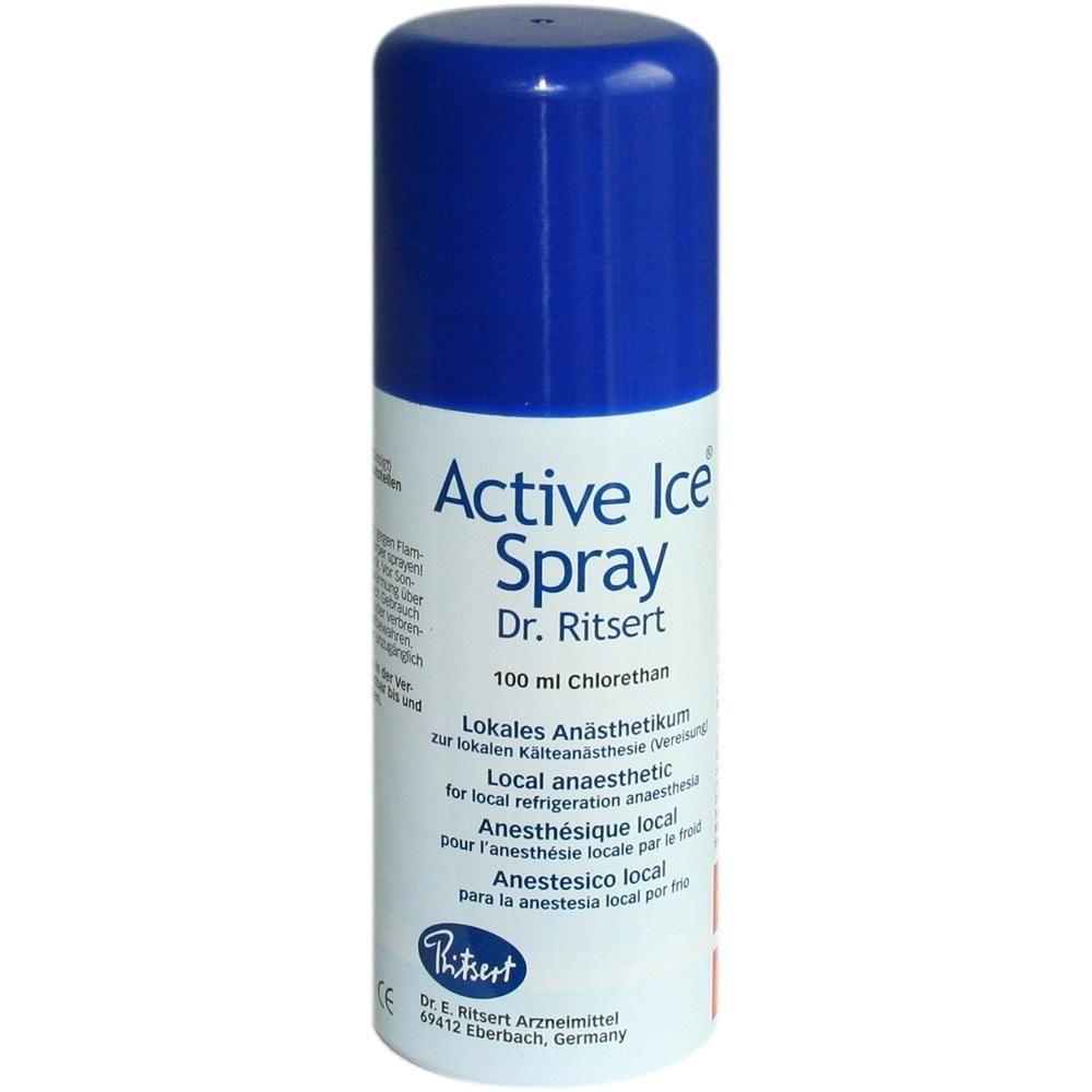 ACTIVE Ice Spray Ritsert:   Packungsinhalt: 100 ml Spray PZN: 02406373 Hersteller: Dr. Ritsert Pharma GmbH & Co KG Preis: 4,78 EUR inkl.…