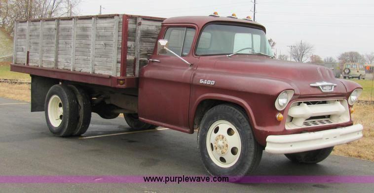 image for item 2308 1955 Chevrolet 6400 grain truck ...