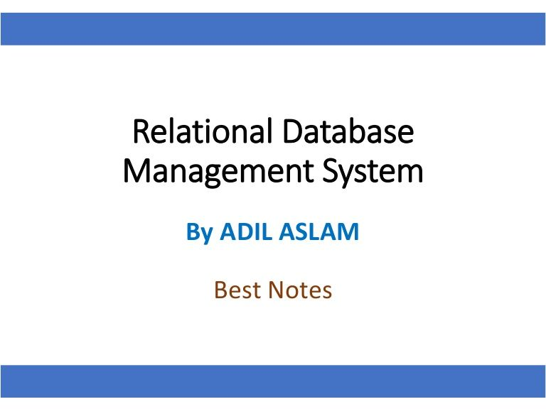 Here Is The Slideshare That Precisely Explains The Relational Database Management Systems Rdbms Database Design And Data Normalization Rdbms
