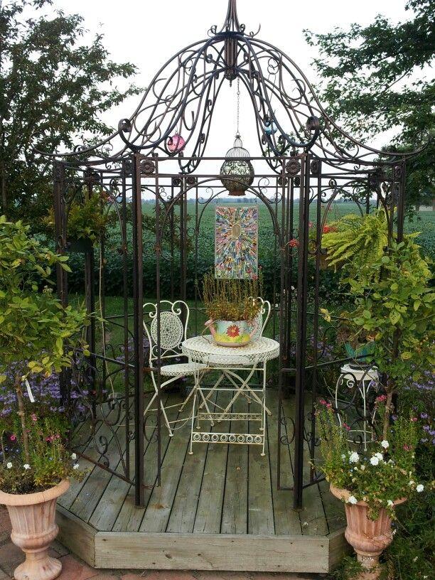 metal gazebo charlies garden pinterest pergolas pergola kits and gardens. Black Bedroom Furniture Sets. Home Design Ideas