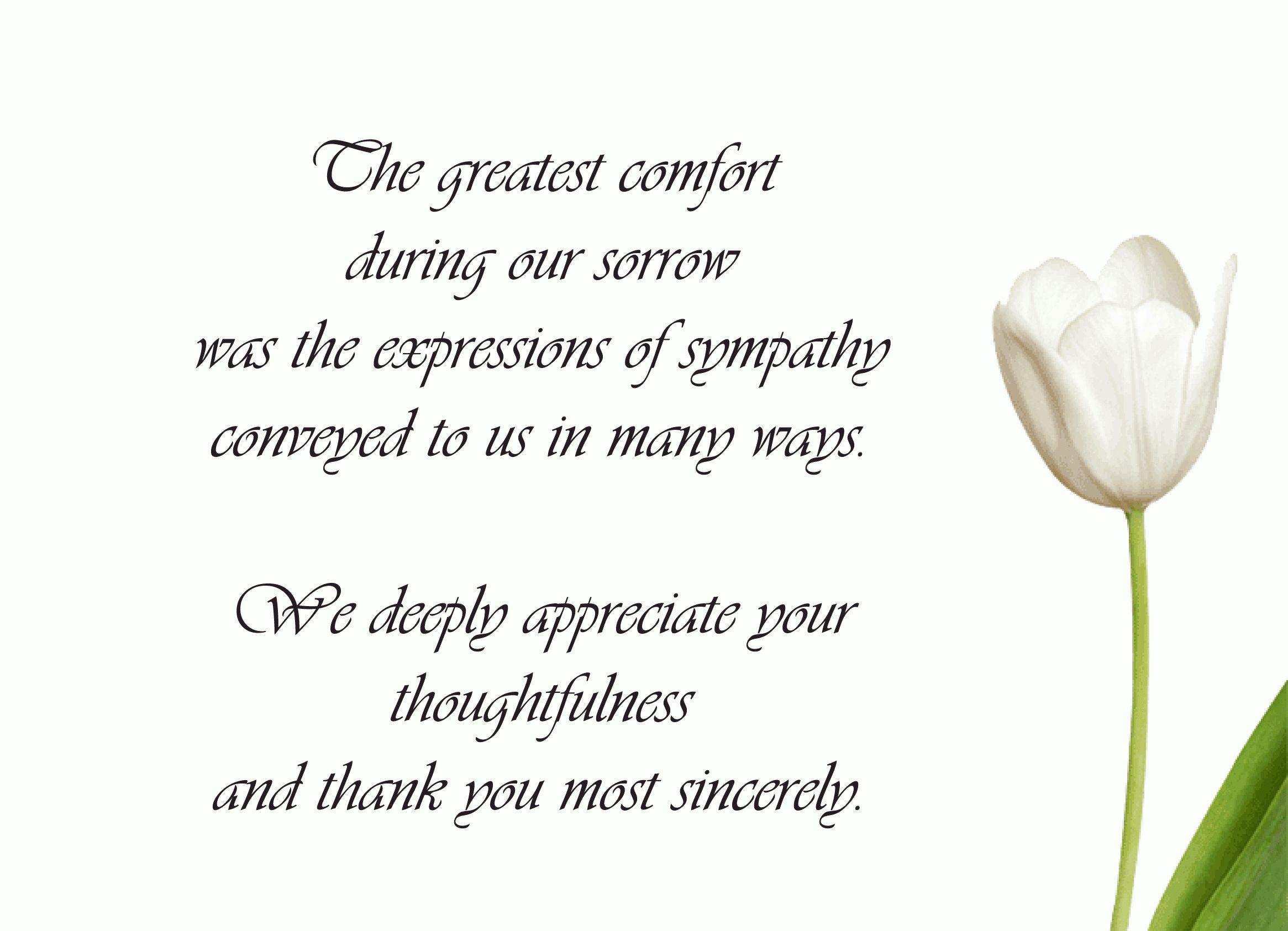 Pinkristine Wayman On Sympathy Thank Yous Funeral Regarding Sympathy Thank You Card Funeral Thank You Cards Sympathy Thank You Cards Sympathy Thank You Notes