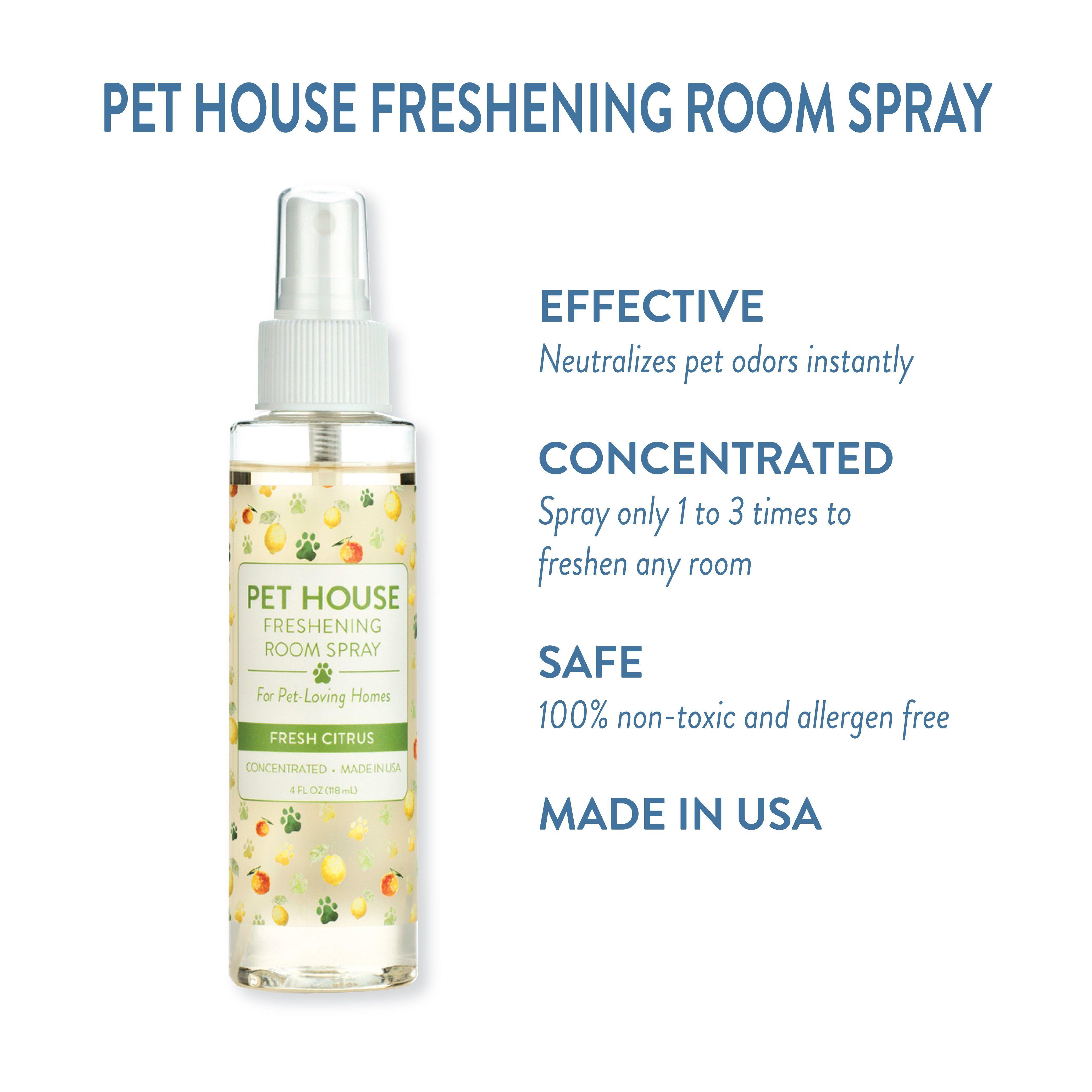 Pet House Fresh Citrus Room Freshening Spray Neutralizes Pet Odor
