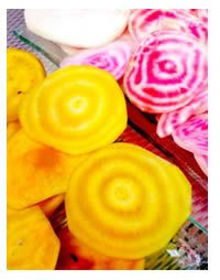 We love the idea of mixing different colours of beetroot.#FoodGardening