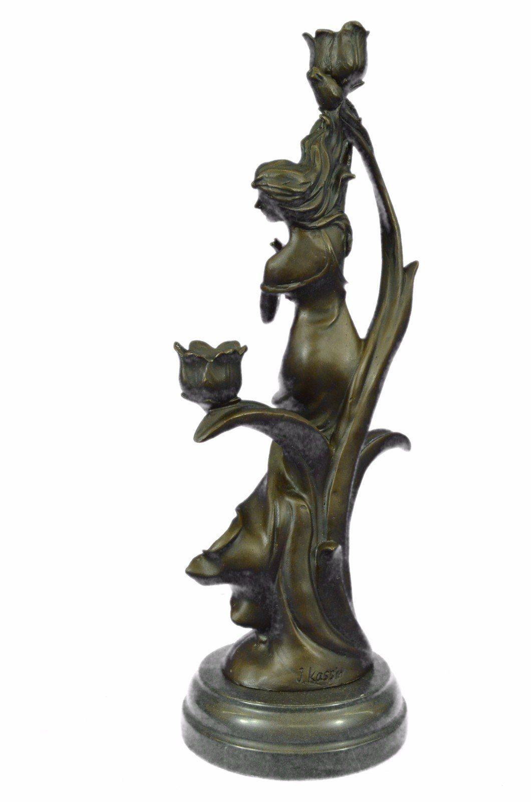 Handmade European Bronze Sculpture TALL INDIAN GIRL