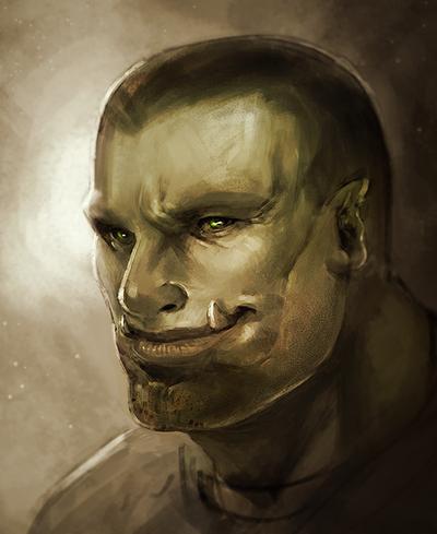 Half Orc Portrait Chalan Altsan, ...
