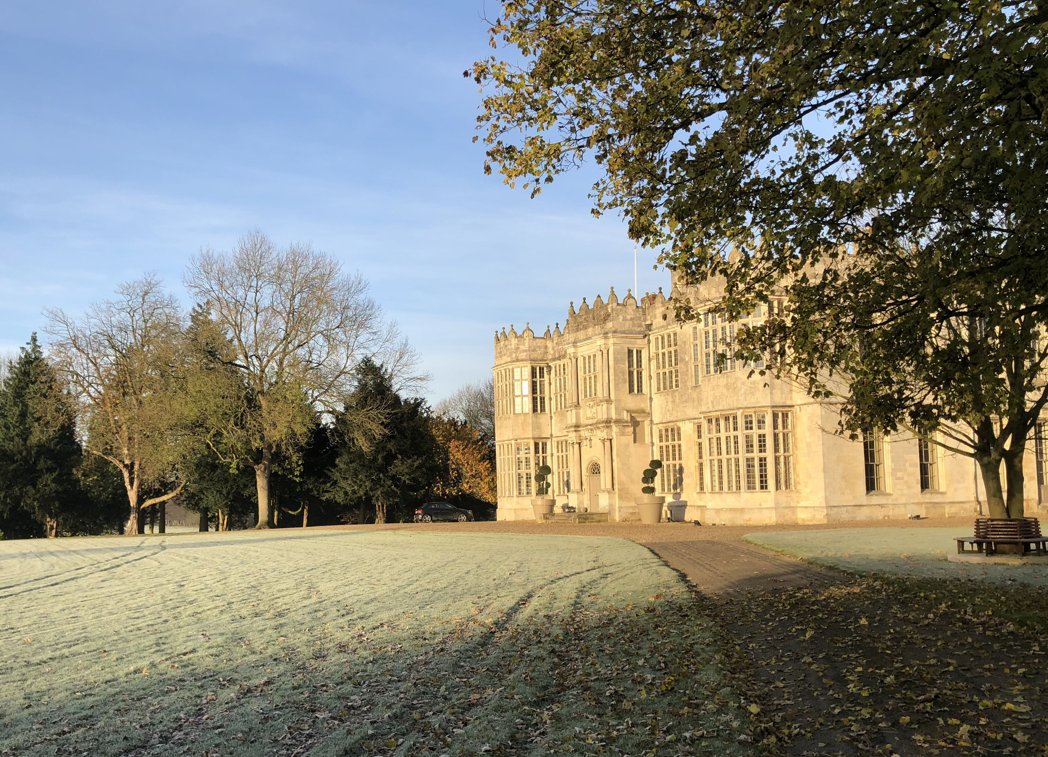 Frosty sunshine at Howsham Hall frost wintersun