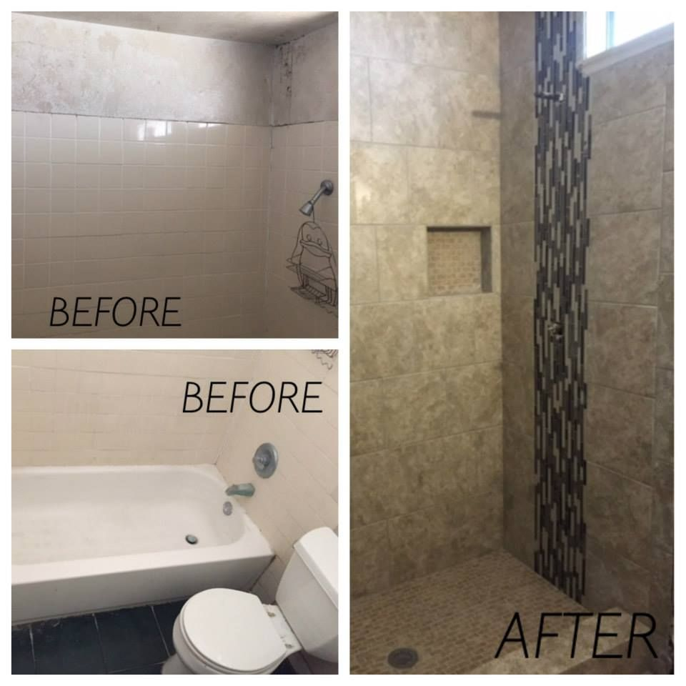 photos of remodeled bathrooms%0A Yes we can make a bathtub into a standing shower   beforeafter  remodel