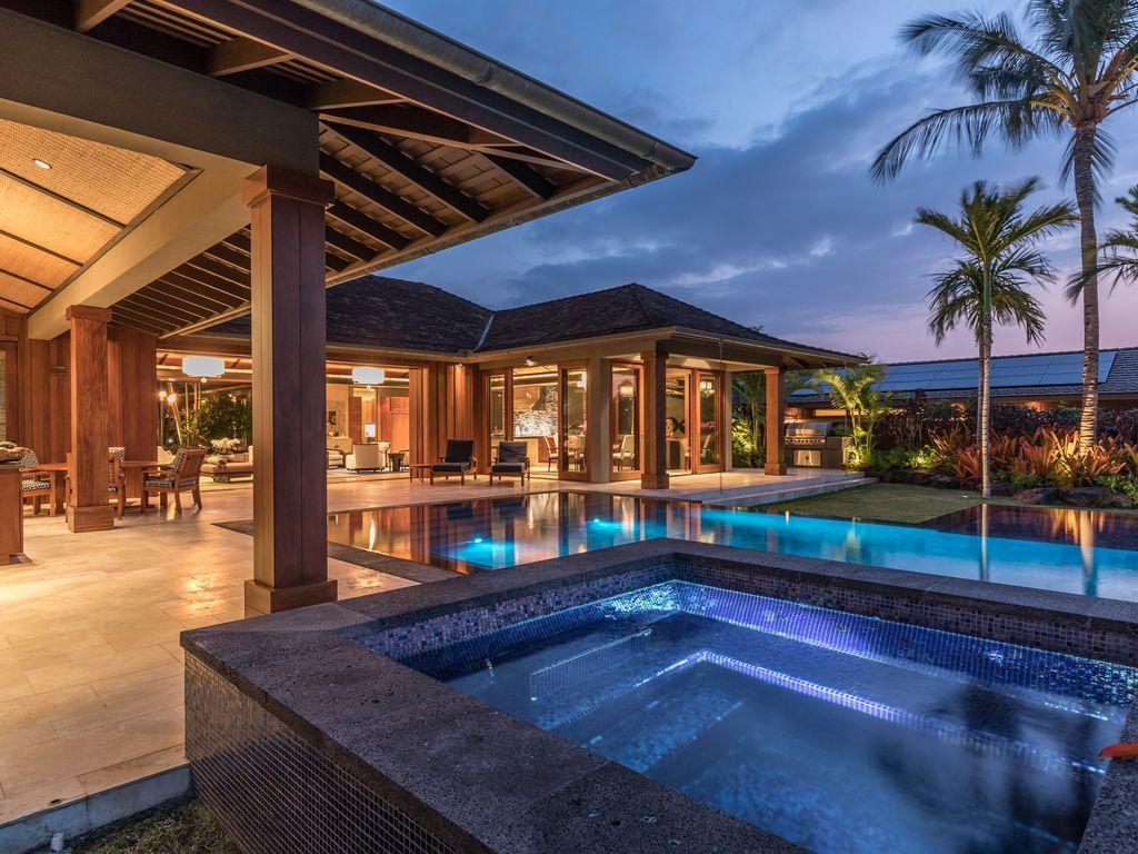 kailua kona estate rental large hualalai estate home at four rh pinterest com