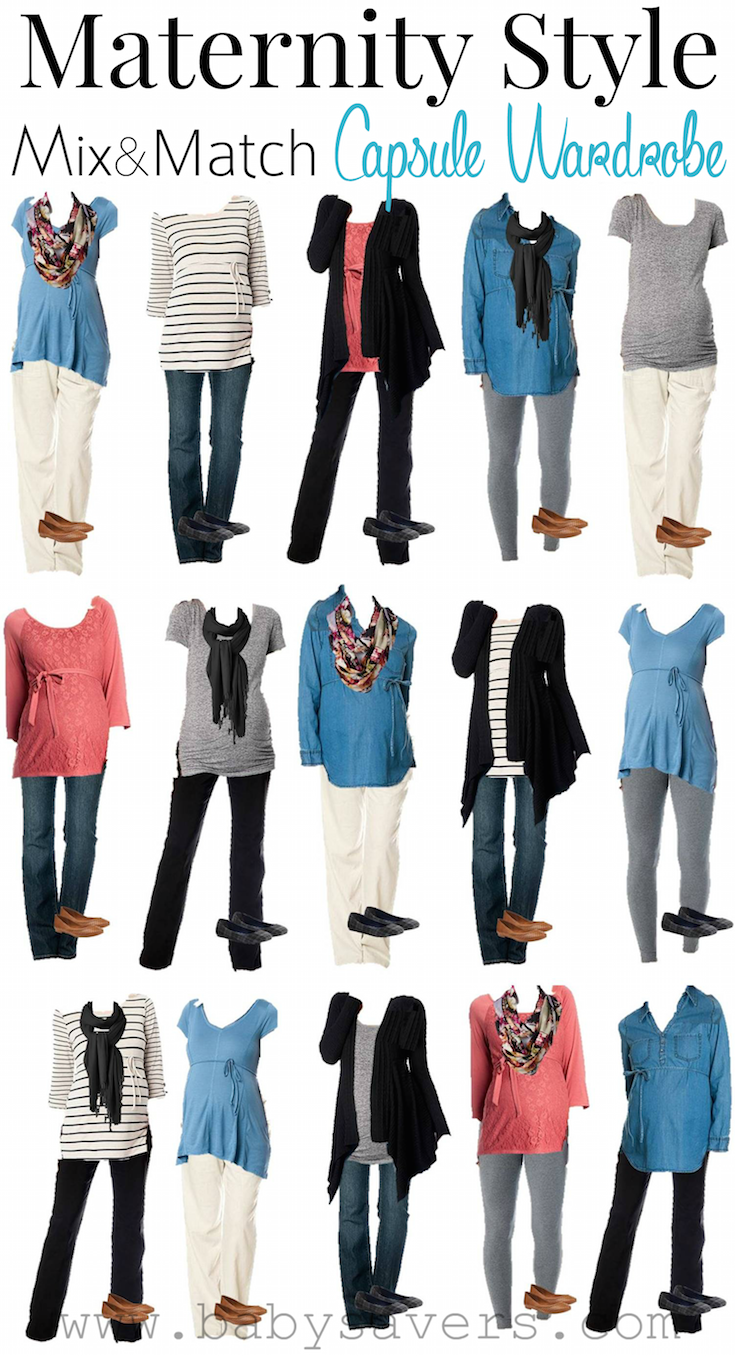 A Maternity Capsule Wardrobe For An Abundance Of Cute