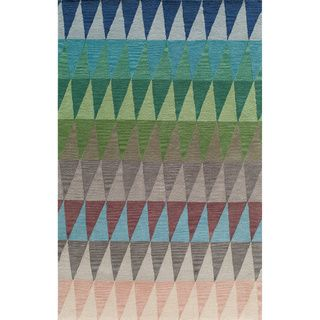 Cosmopolitan Rainbow Stripe Hand Tufted Wool Rug 5 X 8 Overstock Com Shopping The Best Deals On 5x8 6x9 Ru Hand Tufted Rugs Momeni Rugs Colorful Rugs