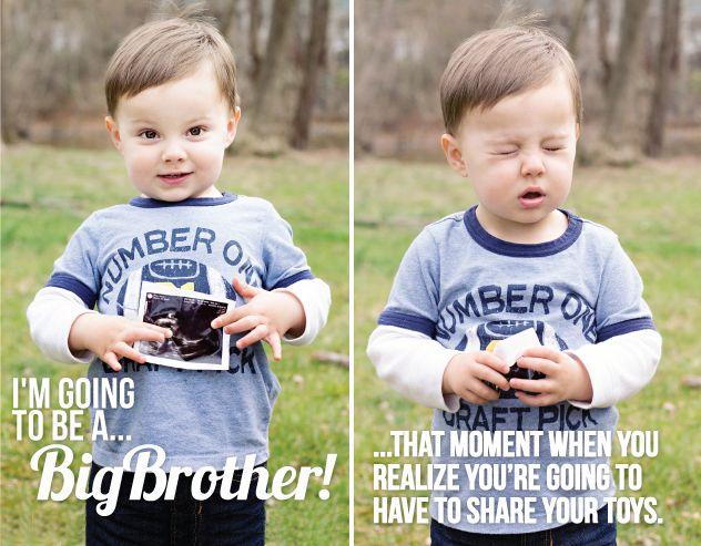 Big brother pregnancy announcement Kids Stuff – Baby Announcements Pinterest