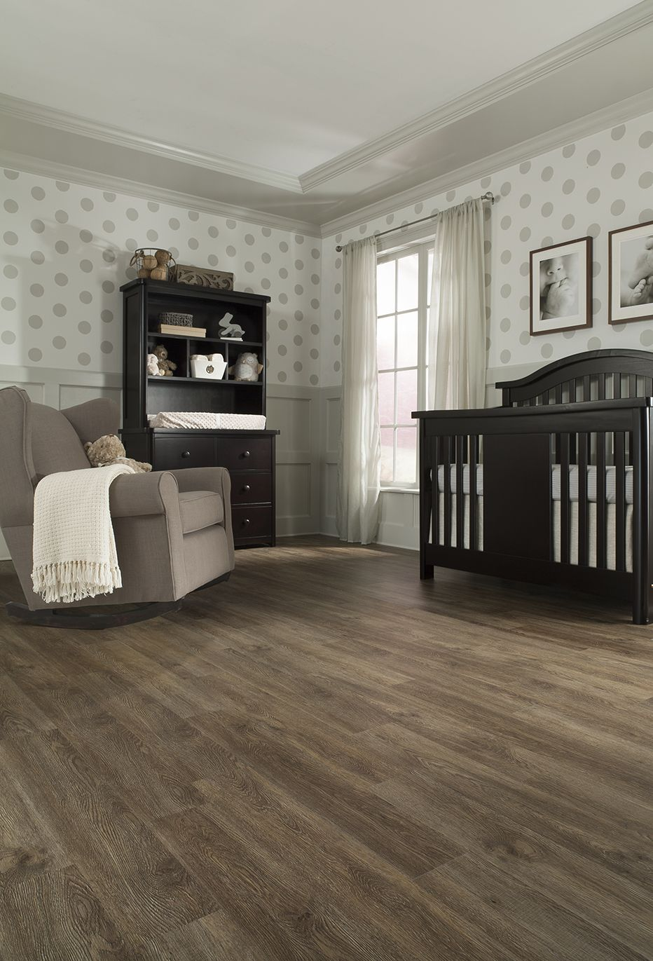 Shop Armstrong 12ft W Dark Brown Wood LowGloss Finish