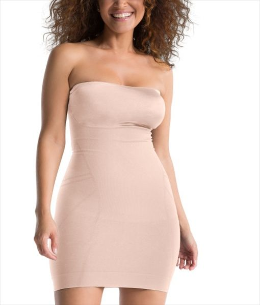 Your Spanx Slimmer And Shine Strapless Slip From Shapewear Guru Extra Firm Slimming Control Sleek Seamless Fabric Shapes The Bust Lifts Bottom