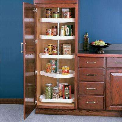 62 in x 22 in x 22 in 5 tier d shaped polymer lazy susan cabinet rh pinterest com