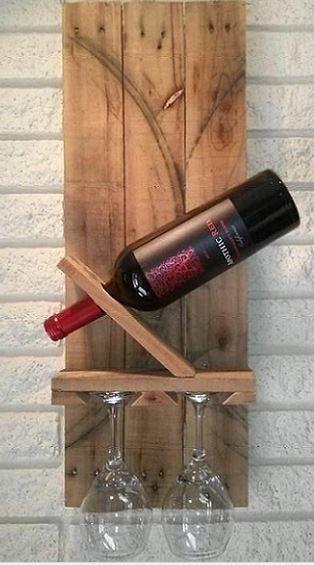 15 ideas creativas diy para el vino hechas con palets - Estanterias de vino ...