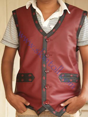 The Warriors Movie Stylish Vest Leather Jacket Bike Riders Halloween Costume 61dbf9fbe14