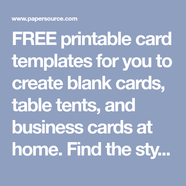 Free Printable Card Templates For You To Create Blank Cards Table