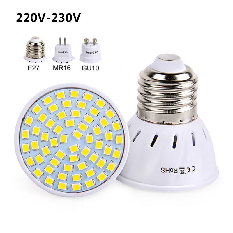 E27 Gu10 Mr16 Led Bulb 220v 230v Led Spotlights Smd2835 Bombillas 48 60 80leds Lampara For Home Lamps Spotlight Affilia Mr16 Led Bulbs Led Spotlight Lamp Bulb