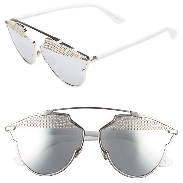 e81af89510f Women s Dior So Real Studded 59Mm Brow Bar Sunglasses ( 670) ❤ liked on  Polyvore featuring accessories