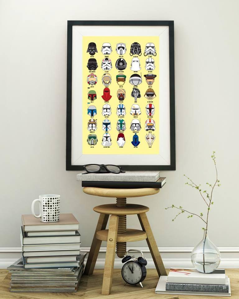 Star Wars Helmets poster by Shirtauris
