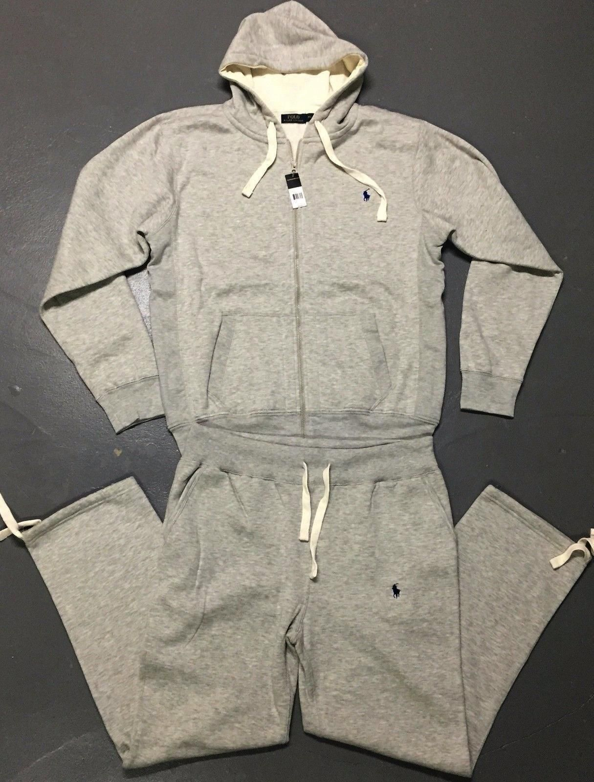 6d0cb7ccd cool RALPH LAUREN POLO FULL ZIP SWEATSUIT FOR MEN COMPLETE SET BRAND NEW  WITH TAGS Check