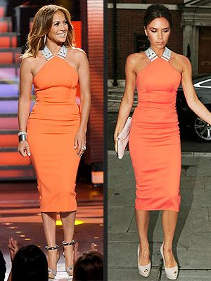 VB Tangerine Dress Spring 2012