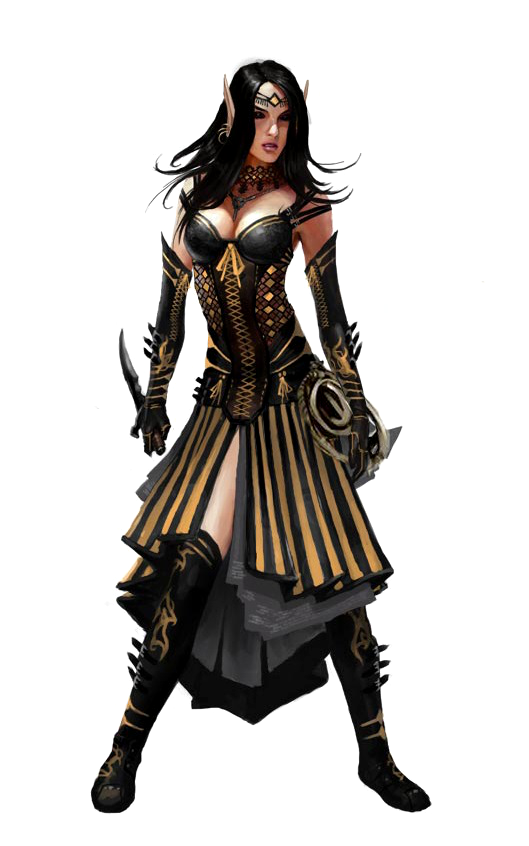 Female Elf Cleric of Calistria - Pathfinder PFRPG DND D&D ...