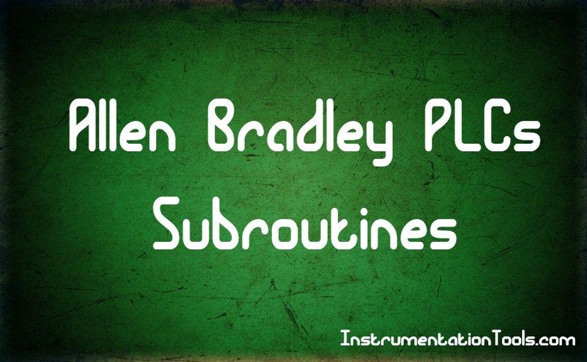 Allen Bradley Plc Terminology