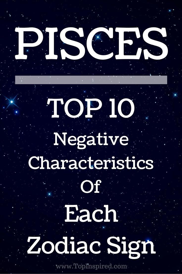 Top 10 Negative Characteristics Of Each Zodiac Sign Zodiac Signs