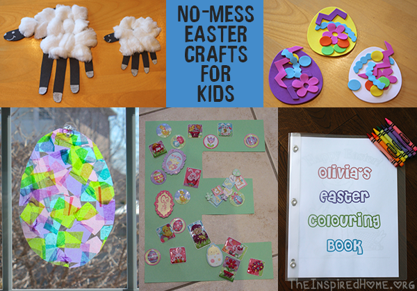 No-Mess Easter Crafts for Kids | Easter crafts, Easter and Craft