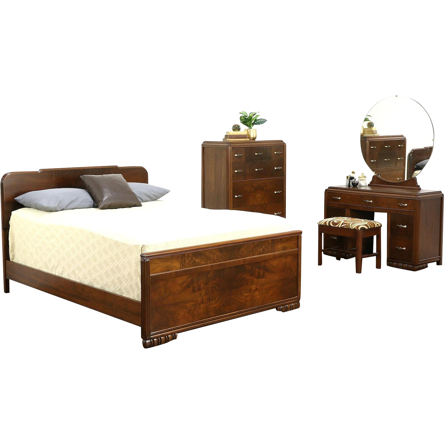 an art deco bedroom set from about 1940 includes a standard full rh pinterest at