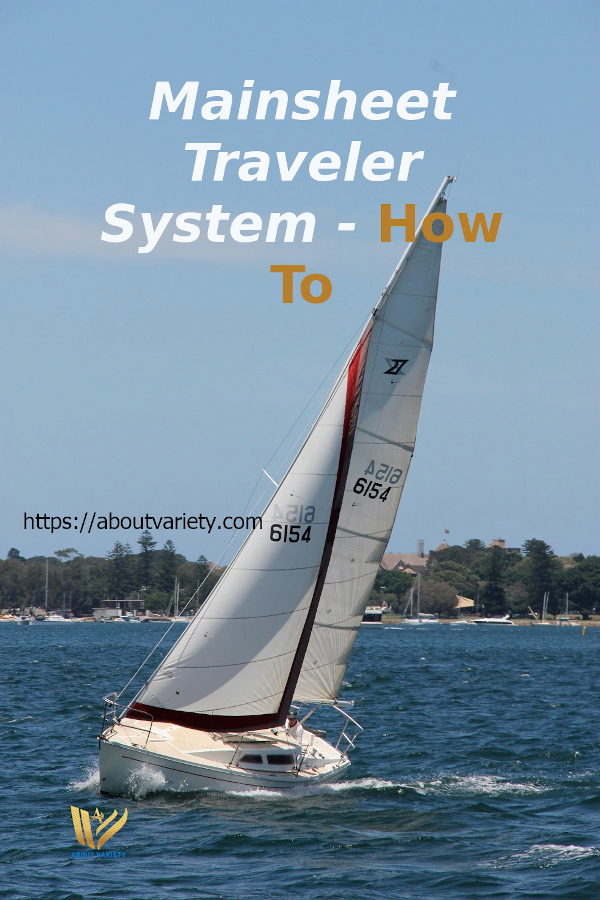 A primary use of the traveler is to keep the boom centered when sailing close-hauled. Because the mainsheet tackle covers a span between the boom and the sailboat attachment, the boom will move to leeward no matter how tight the mainsheet is sheeted in. #AboutVariety #maintraveler #mainsheet #mainboom #sailboat #sailing