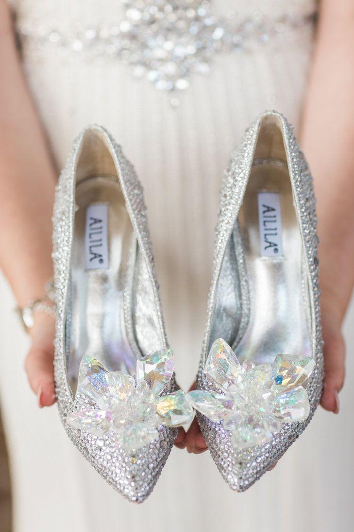 Fun Cinderella Inspired Wedding Shoes