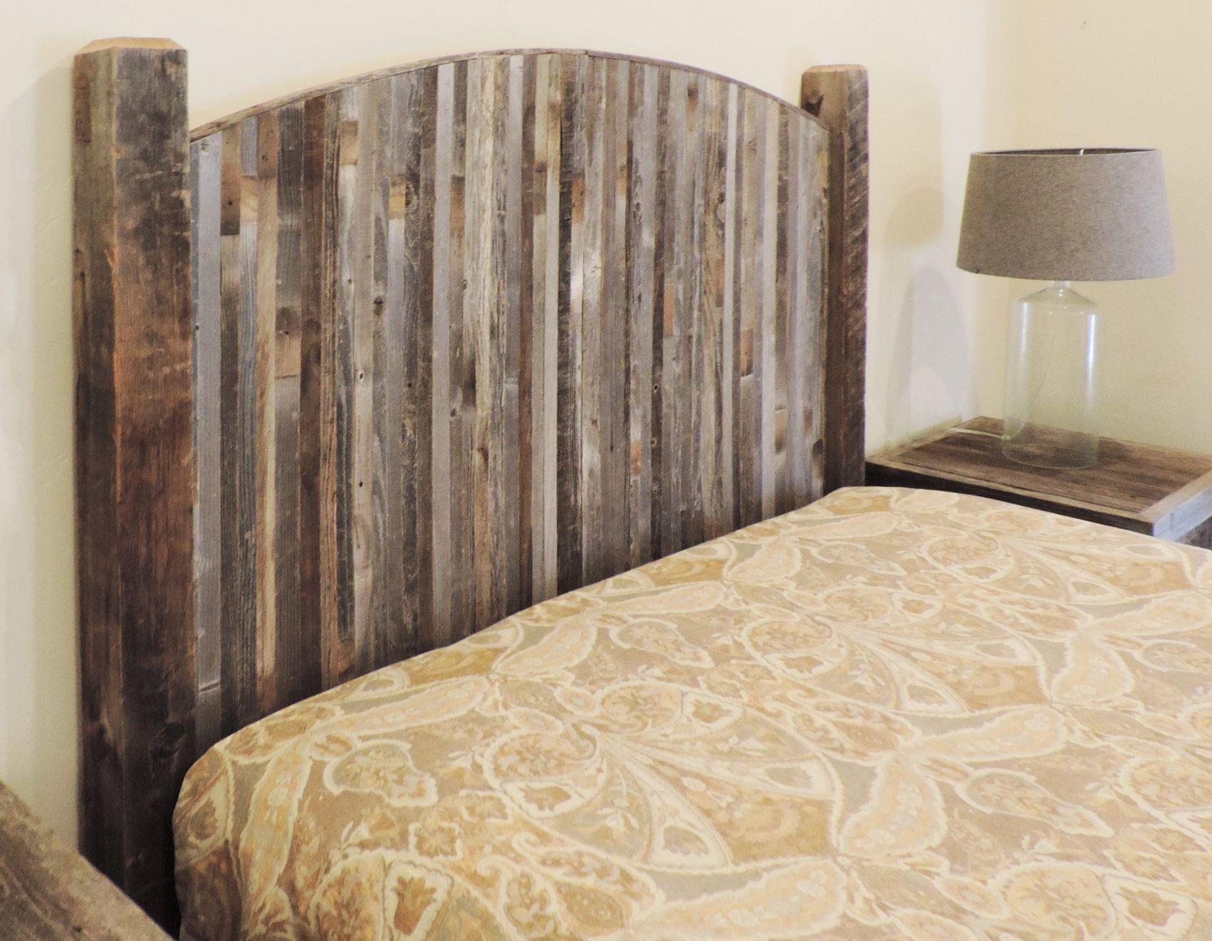Farmhouse Style Arched Twin Bed Barn Wood Headboard W Narrow Rustic Reclaimed Wood Slats Diy Wood Headboard Bedroom Furniture Sets Reclaimed Wood Headboard
