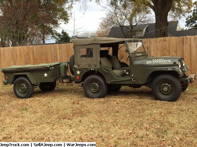 1957 Willys Jeep M38 Replica With Trailer Very Nice 57 Jeep With