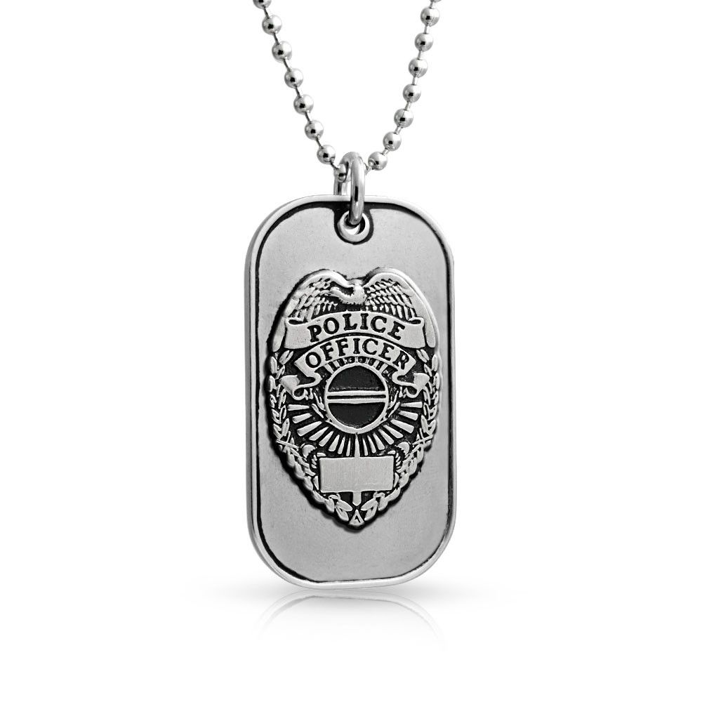 Stainless steel police officers prayer dog tag pendant 20in bling stainless steel police officers prayer dog tag pendant 20in bling jewelry aloadofball Images
