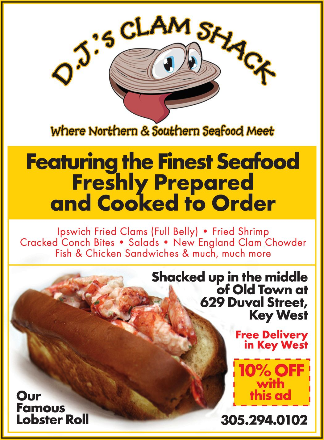 Djs clam shack with images travel eating foodie