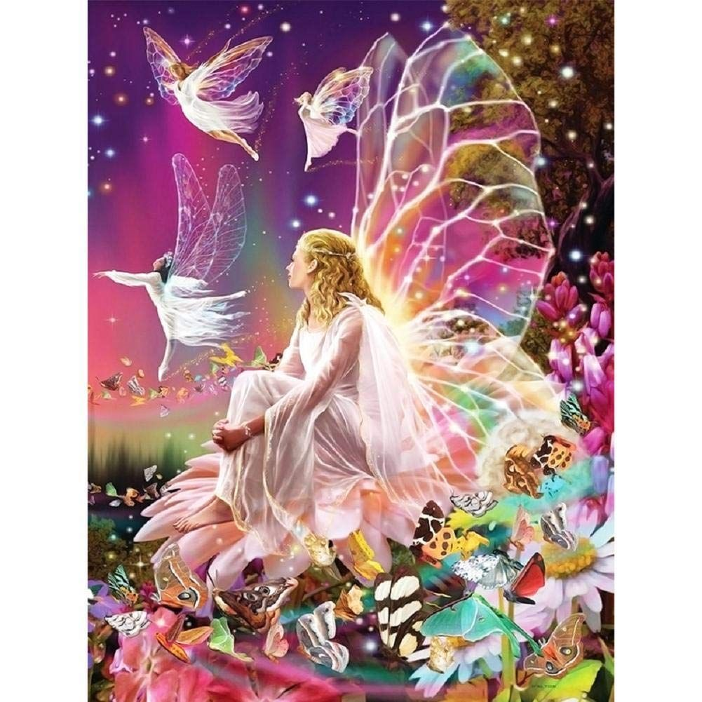 Diamond Painting,Vipeco 5D DIY Angel Wings Full Drill Diamond Embroidery Painting Cross Stitch Kits