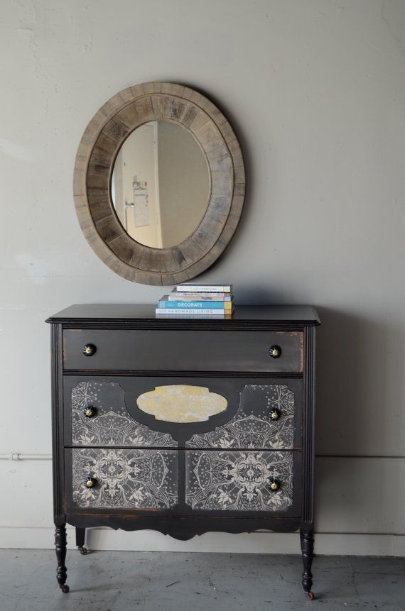 gerda- painted chest with wallpaper insets   Home Wishes ...