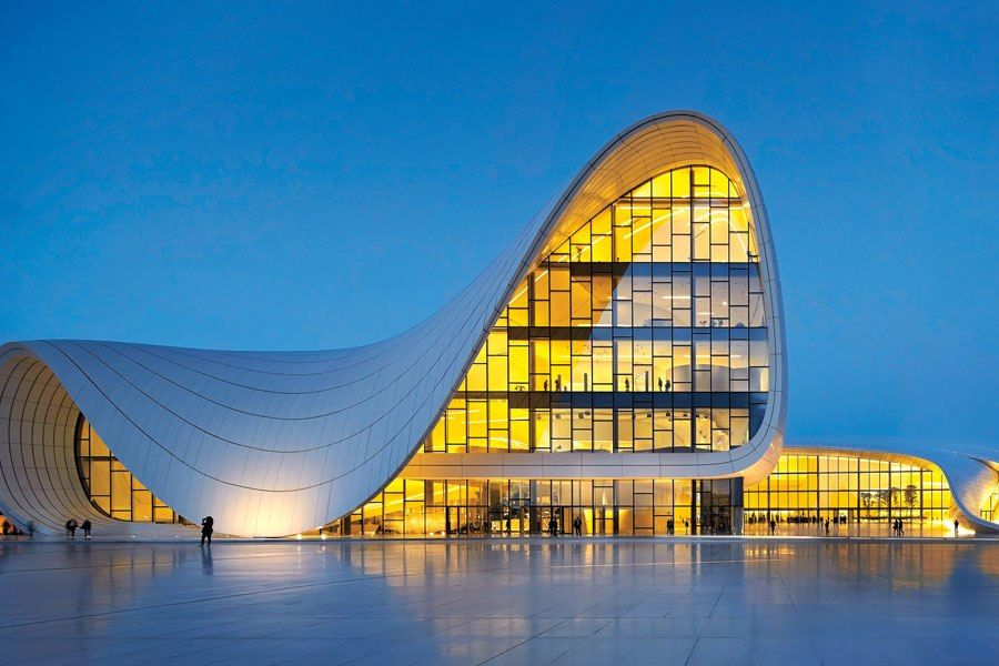 Ten Daring New Buildings Around the World Baku azerbaijan Hadid
