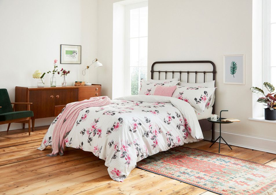 Joules Mid Century Modern Floral Bedroom Design Home Decor
