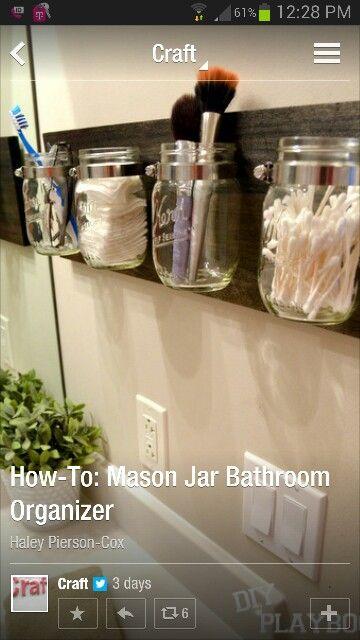 Mason Jar Organizer Mason Jar Bathroom Organizer Bathroom
