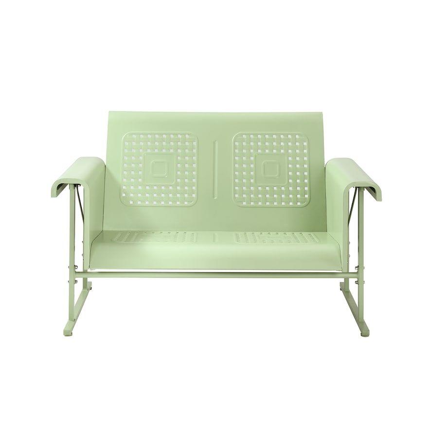 Crosley Furniture Veranda Loveseat Glider Green Outdoor Glider Crosley Furniture