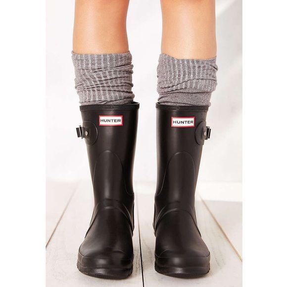 Short Matte Black Hunter Rain Boots