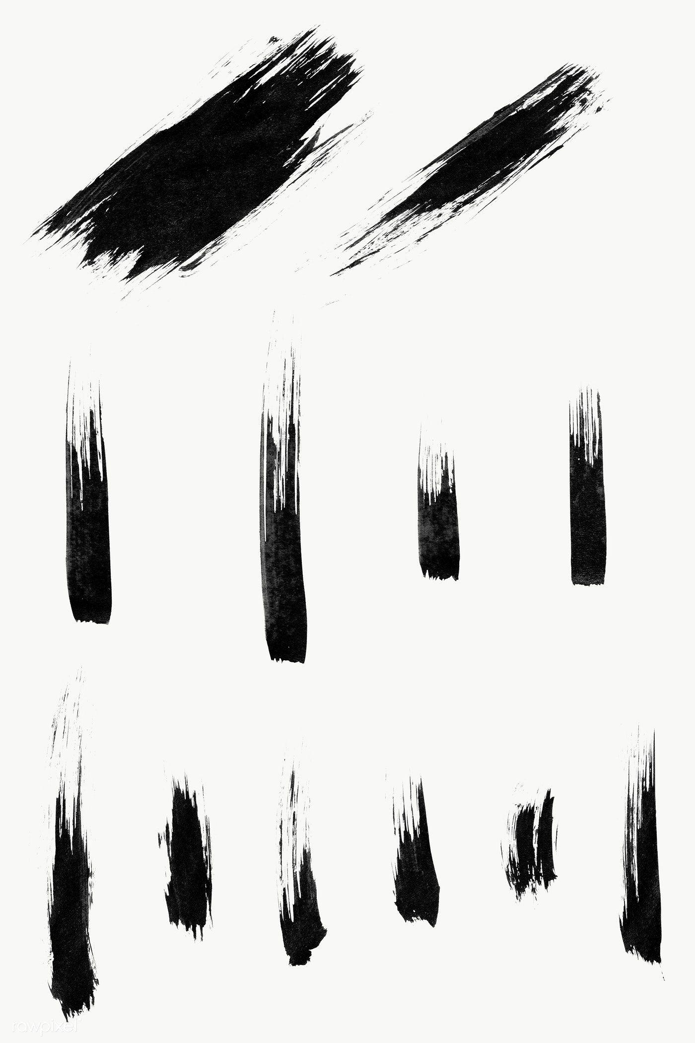 Abstract Black Brush Stroke Set Transparent Png Free Image By Rawpixel Com Brush Tattoo Brush Strokes Brush Stroke Tattoo