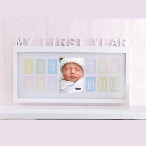 another great gift and decor idea for a first birthday a keepsake frame that shows - My First Year Picture Frame