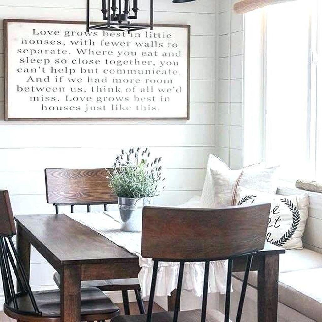45 Fabulous Farmhouse Wall Decor Ideas 99decor Dining Room Art