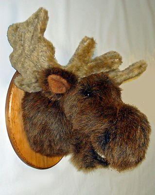 Mounted Moose Head Maine Fair Game Hunt Stuffed Animal I Like