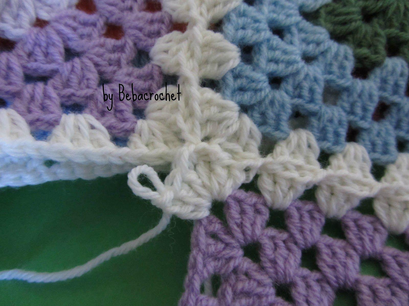 Tutorial come unire le granny o piastrelle alluncinetto crochet