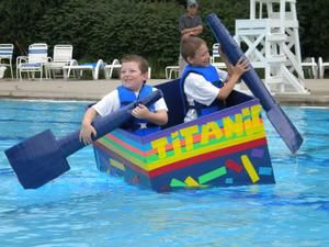Children Are Invited To Build A Boat Of Cardboard And Duct Tape At Home That Is
